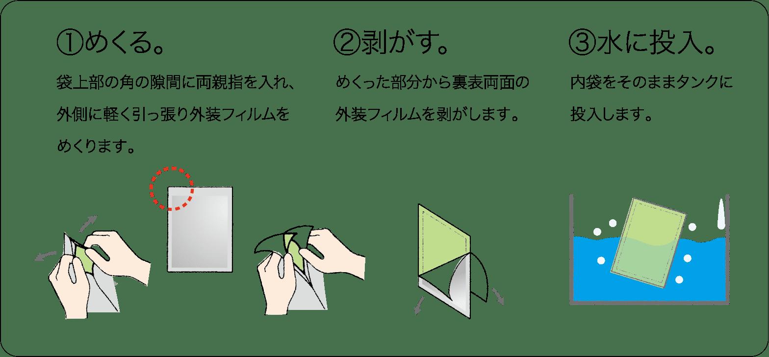 エコピールの使用方法